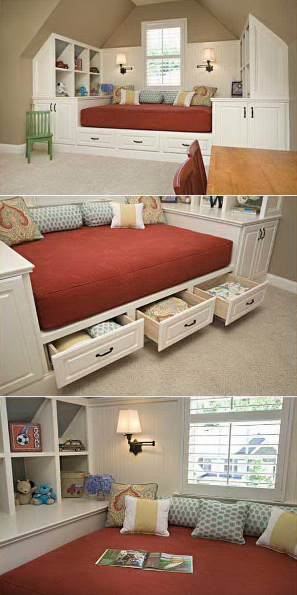 6 Building a Bed with Hidden Storage under a Slanted Ceiling
