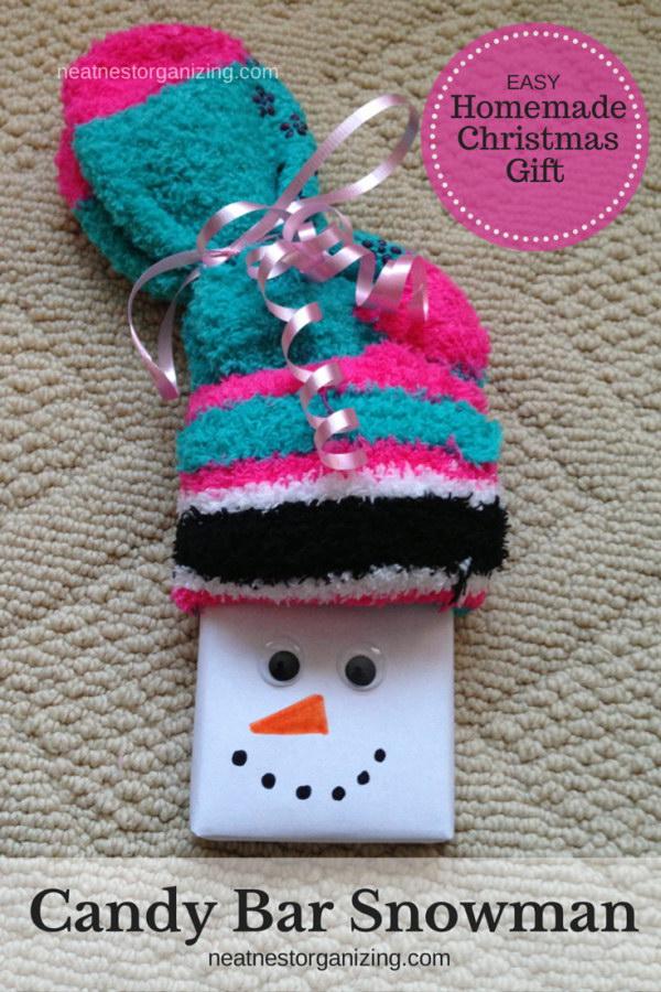 6 Candy Bar Snowmen