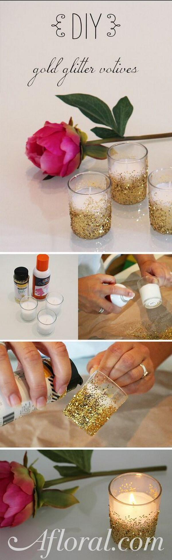 6 DIY Glitter Voitive