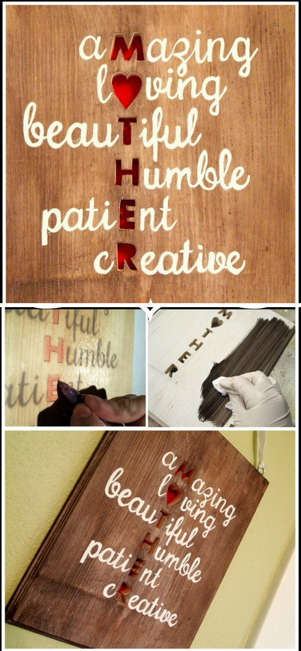 6 Meaningful DIY Plaque Wall Art for Mom