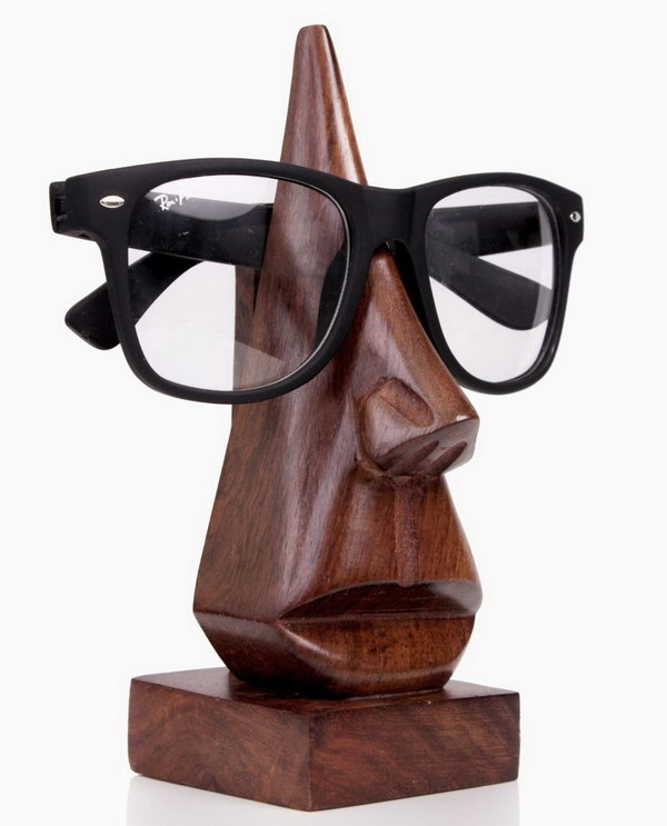 6 Wood Eyeglass Holder for Christmas Gift