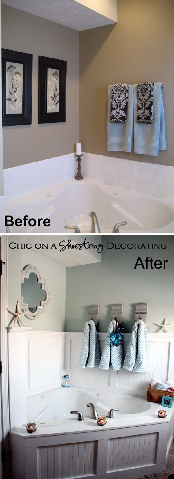 7 Beachy Bathroom Makeover