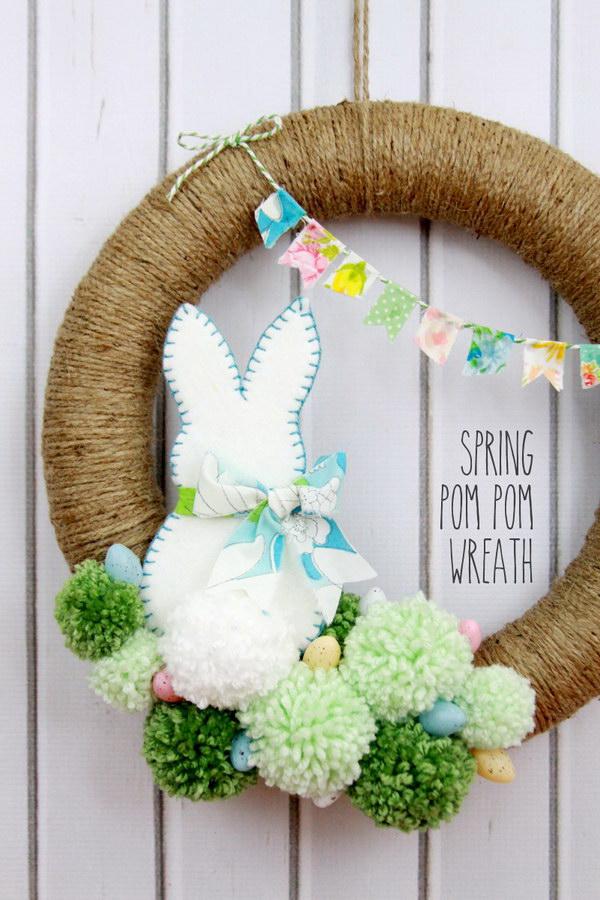 7 Easter Pom Pom Wreath