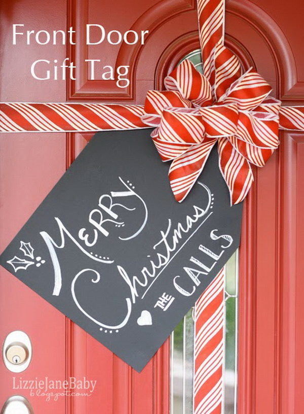 7 Gift Wrapped Front Door Decoration