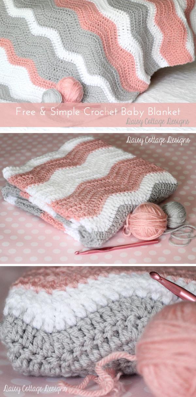 7 Peppy Pink Baby Blanket Crochet Pattern