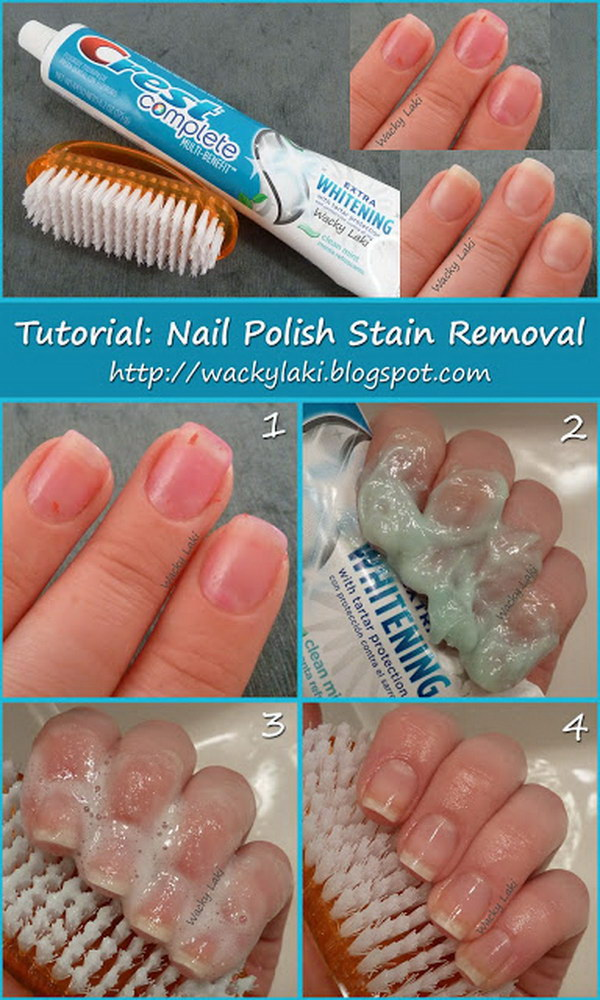 7 Toothpaste Nail Polish Stain Removal