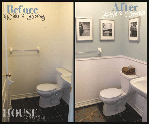 8 Half Bathroom Makeover with Before and After