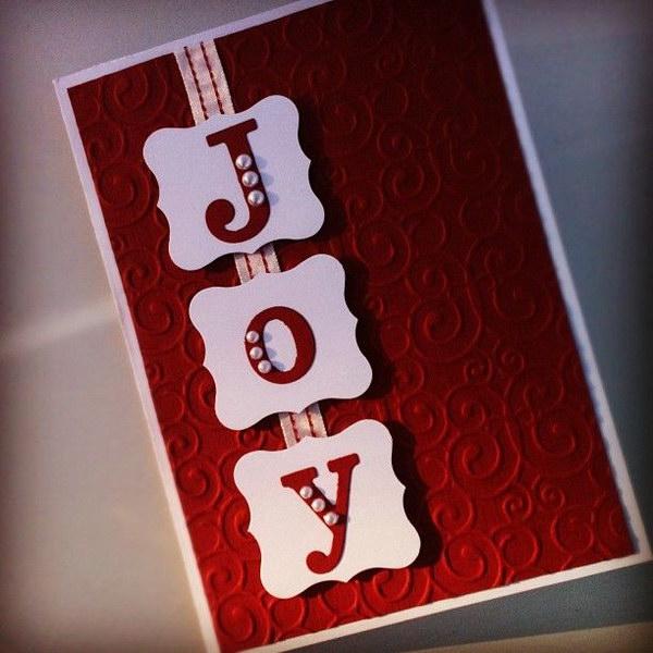 8 JOY Christmas Card