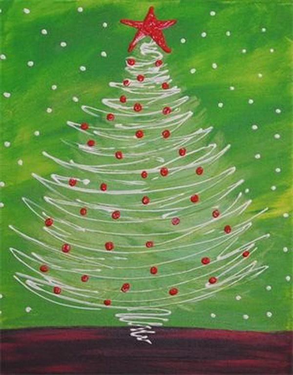 8 Swirly Christmas Tree