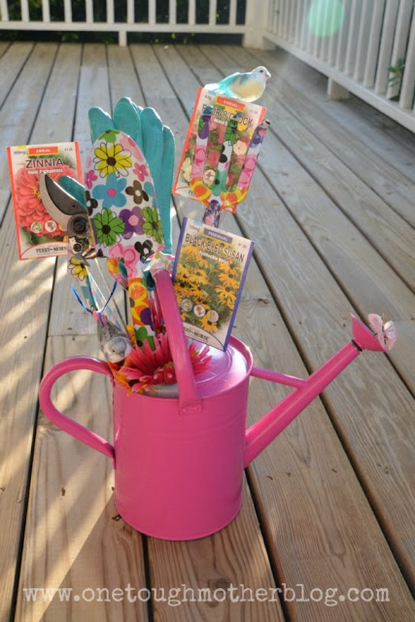 Watering Can Gift Basket