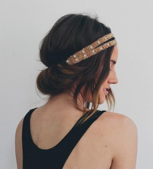 8 easy headband tuck updo