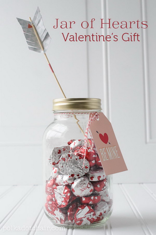 9 A Jar of Chocolate Hearts