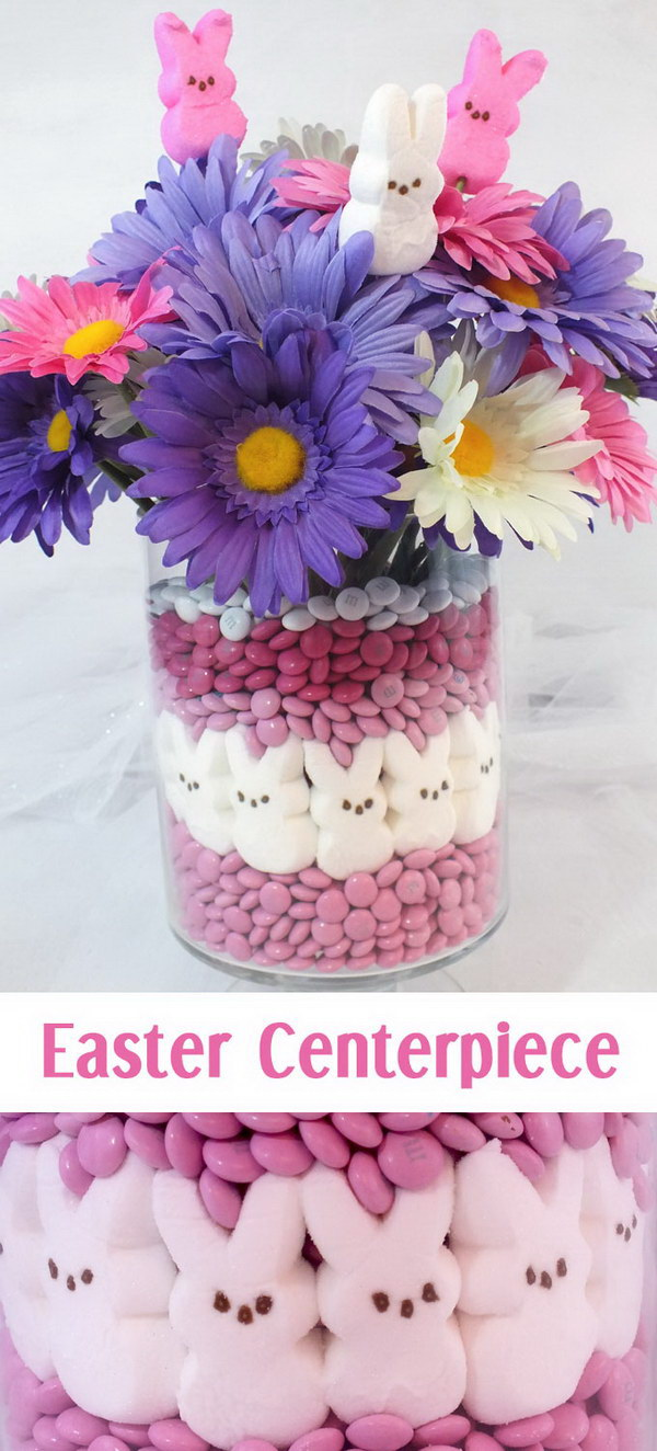 9 DIY Pink and Purple Easter Centerpiece
