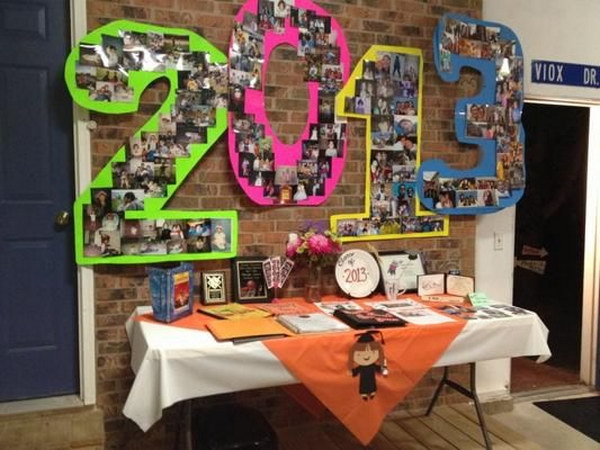 9 Graduation Party Year Numbers Decoration