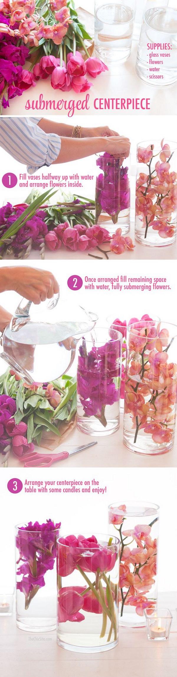 9 Submerged Flower Centerpiece