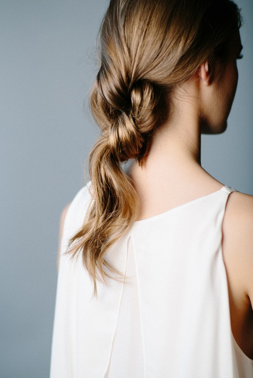 9 double knot ponytail
