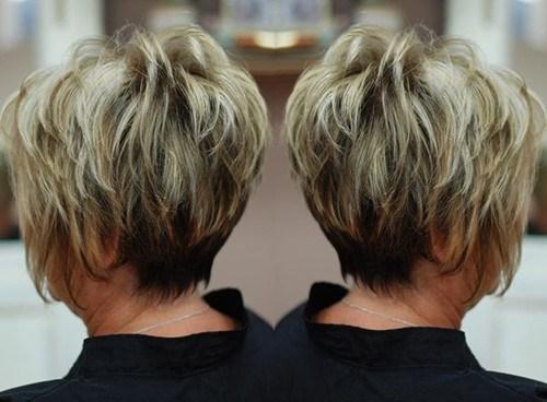 9 short modern haircut for mature women