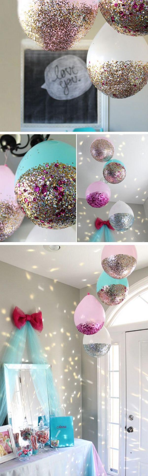 1 DIY Glitter Balloons
