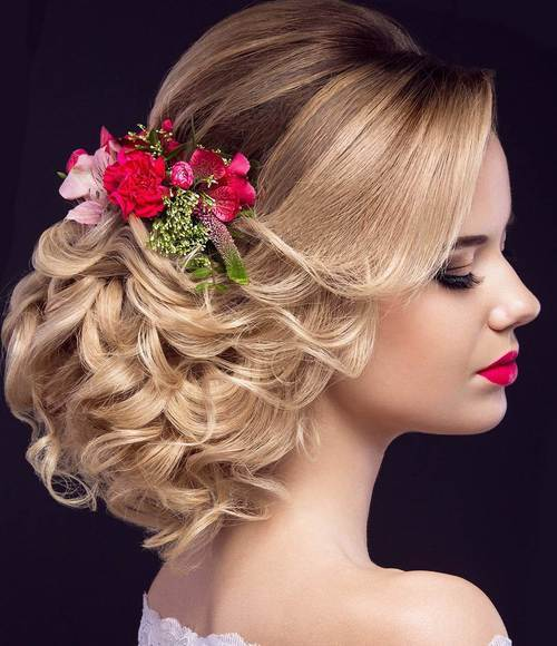 1 formal low curly updo