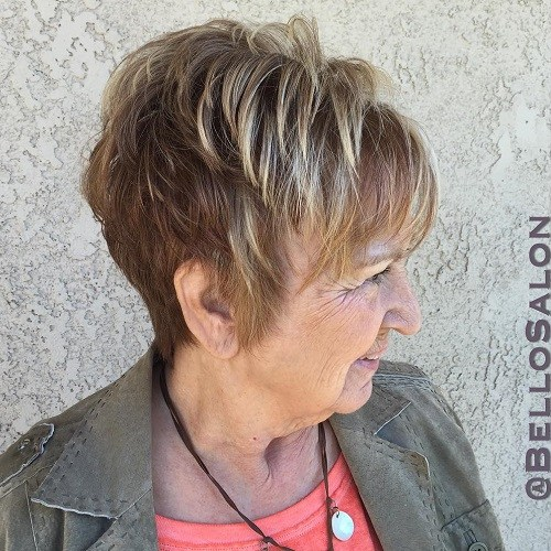 1 short hairstyle for older women