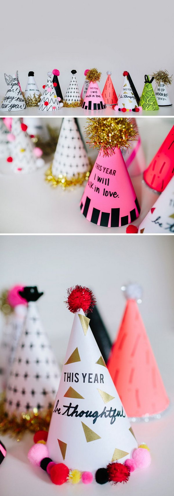 10 DIY New Year Resolution Party Hats