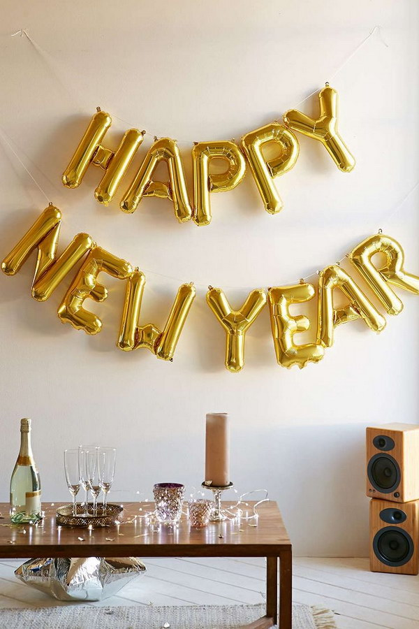 11 New Year Number Gold Balloon Kit