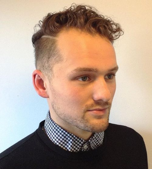 12 curly top short sides hairstyle for men