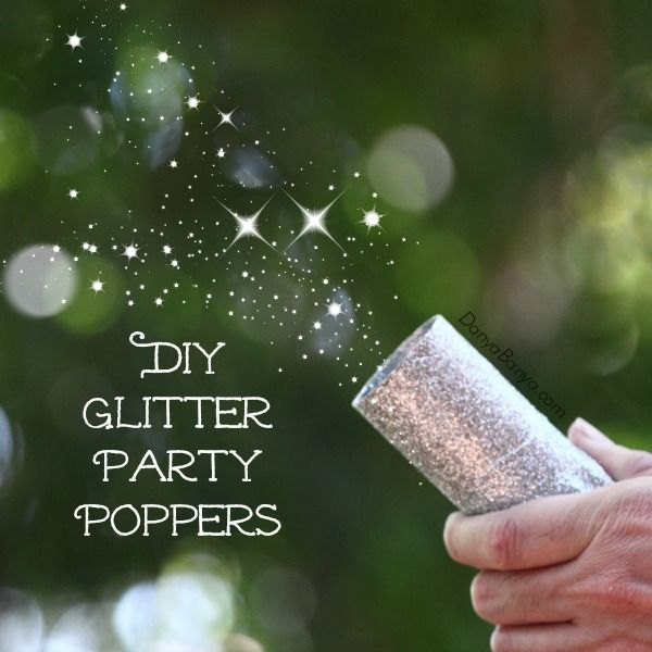 13 DIY Silver Glitter Party Poppers