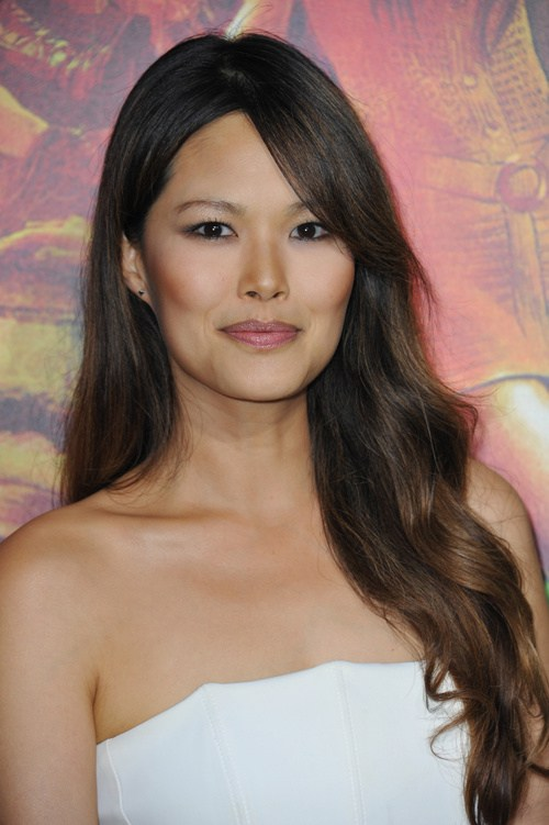 14 long asian a line hairstyle with subtle golden brown ombre