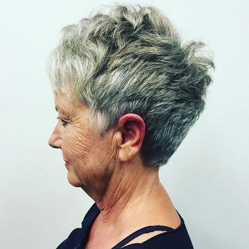 15 over 70s salt and pepper pixie