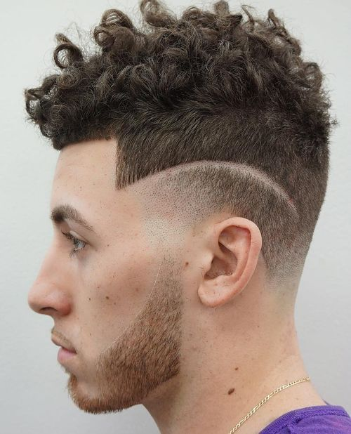 17 mens curly top hairstyle with short sides