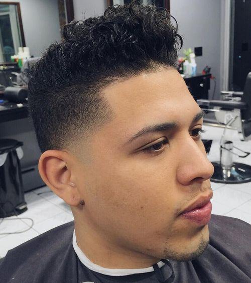 18 curly top fade haircut