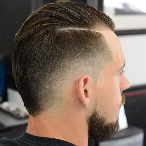 19 mens fauxhawk haircut with faded sides