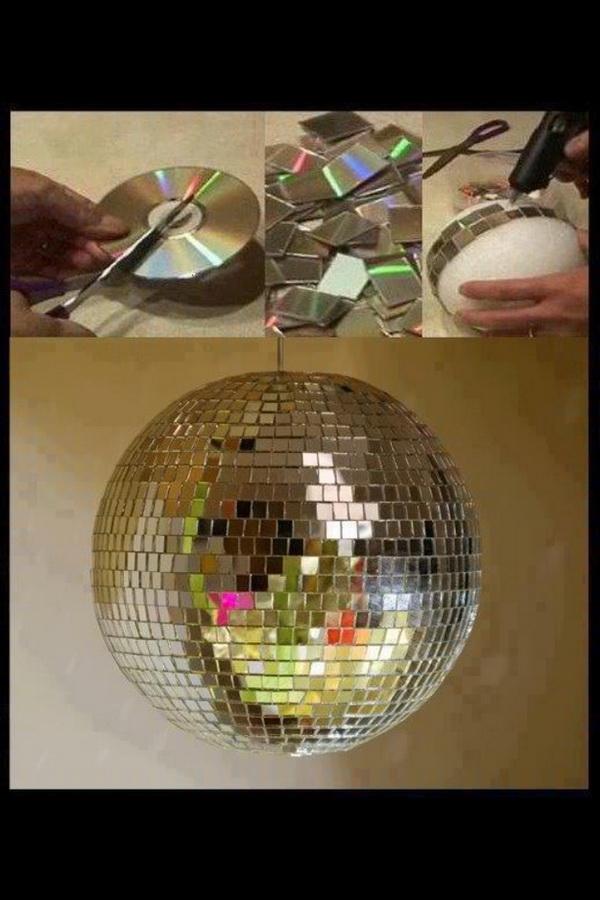 2  DIY Upcycled CD Disco Ball