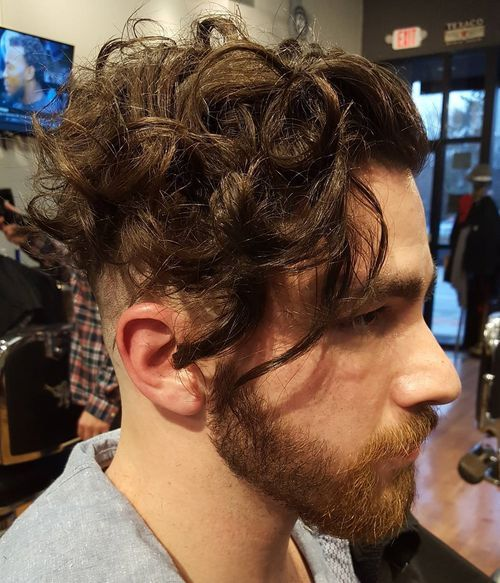 2 curly undercut hairstyle for men