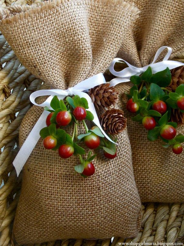 25 Burlap Treat Bags