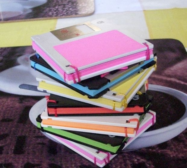 25 Notebook from old Floppy Disks