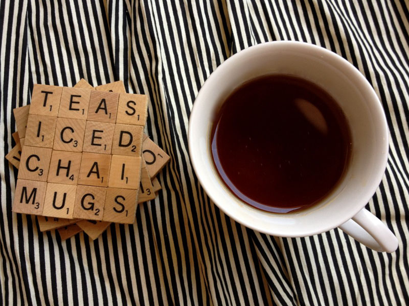 28 DIY Scrabble Coasters