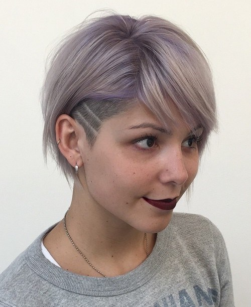 3 short womens hairstyle with temple undercut