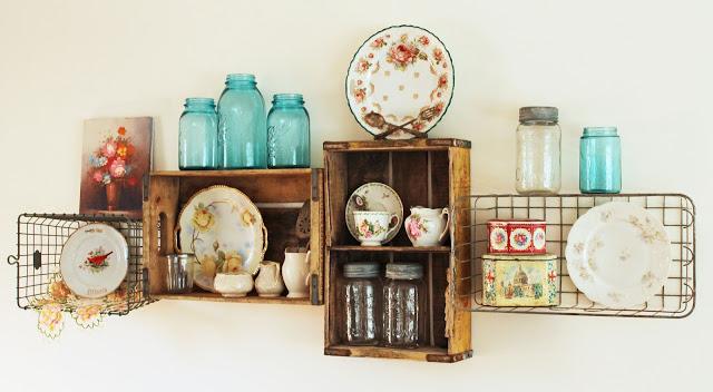 31 Vintage Crate  Wire Basket Shelves