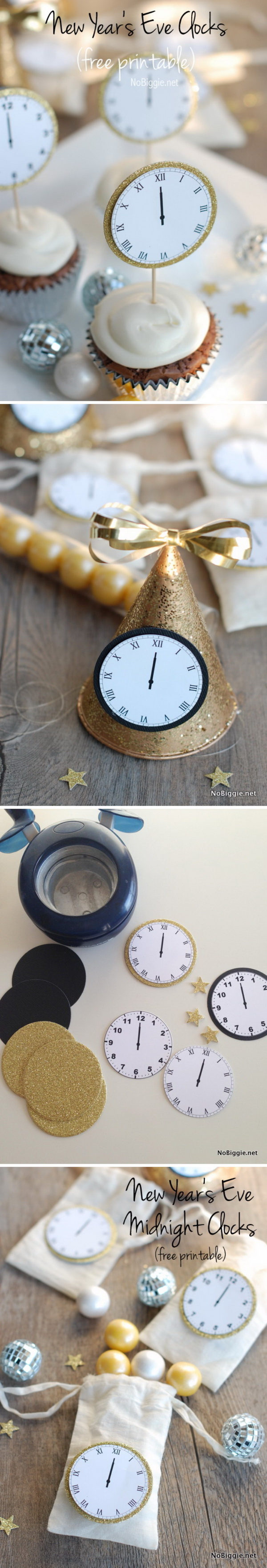 32 New Year's Eve Midnight Clock Free Printable