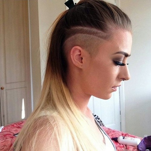 32 long hair with side undercuts