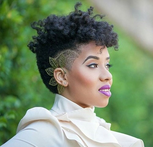 36 short natural hairstyle with undercut
