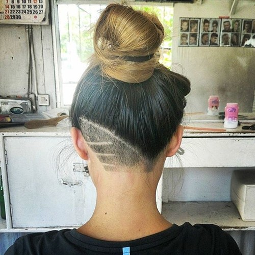 QUICK HOW TO GIRLS UNDERCUT TAPER WITH DESIGN  YouTube
