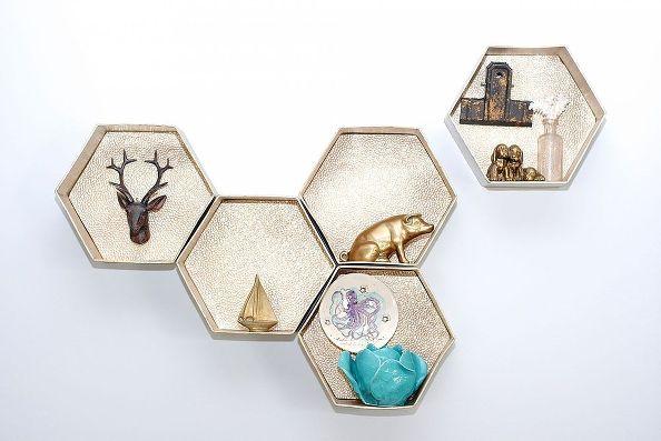 41 Hexagon Wall Shelves