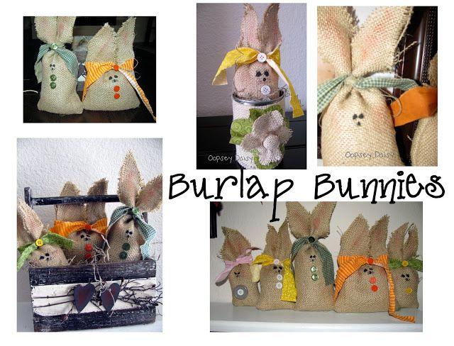 42 Burlap Bunnies