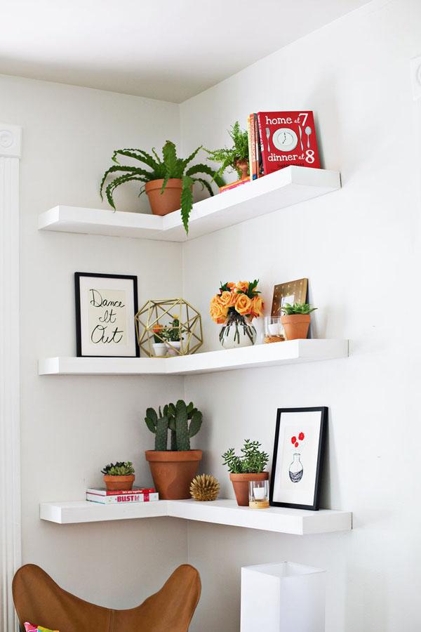44 Floating Corner Shelves
