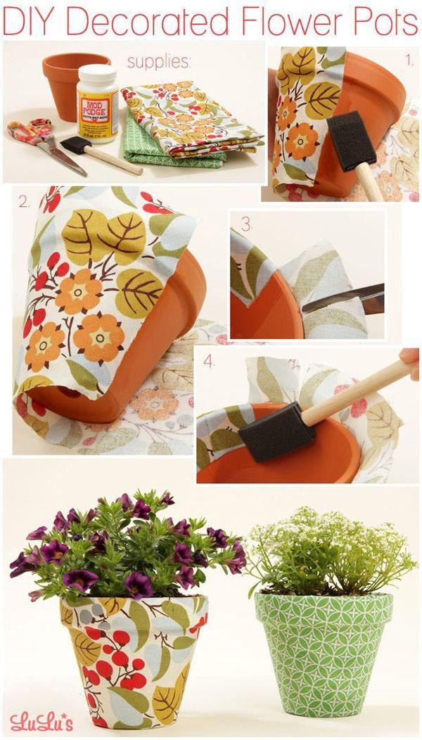 45 DIY Decorated Flower Pot