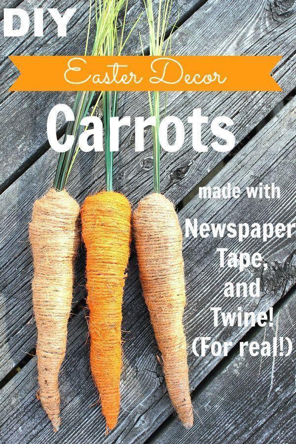 47 DIY Easter Decor Carrots