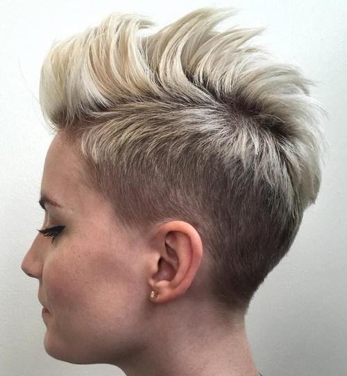 5 blonde pixie fauxhawk
